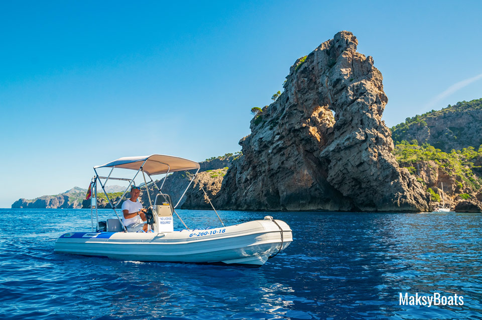 Boat Rental Na Foradada Mallorca from Port de Sóller with MaksyBoats