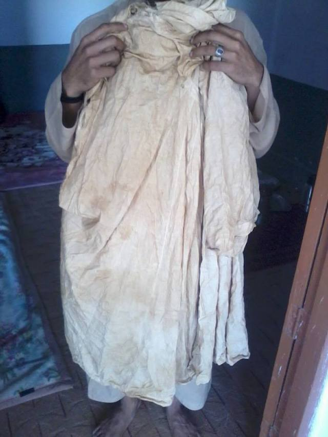 The blessed shirt of Haji Dost Muhammad Qandahari