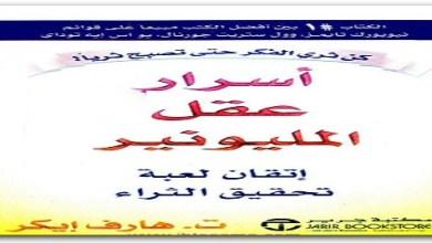 Photo of كتاب أسرار عقل المليونير ت. هارف إيكر PDF