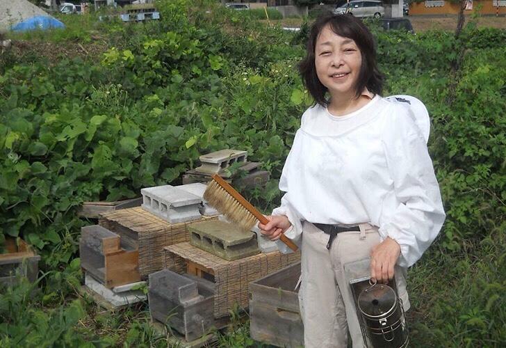 ブース出店10<BR>米山養蜂 米山順子さん・米山正芳さん