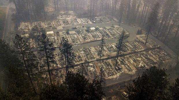 California fire victims mourned