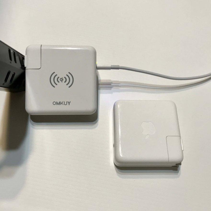 OMKUY QIワイヤレス充電器はMacBook Proのアダプター代わりにも使える