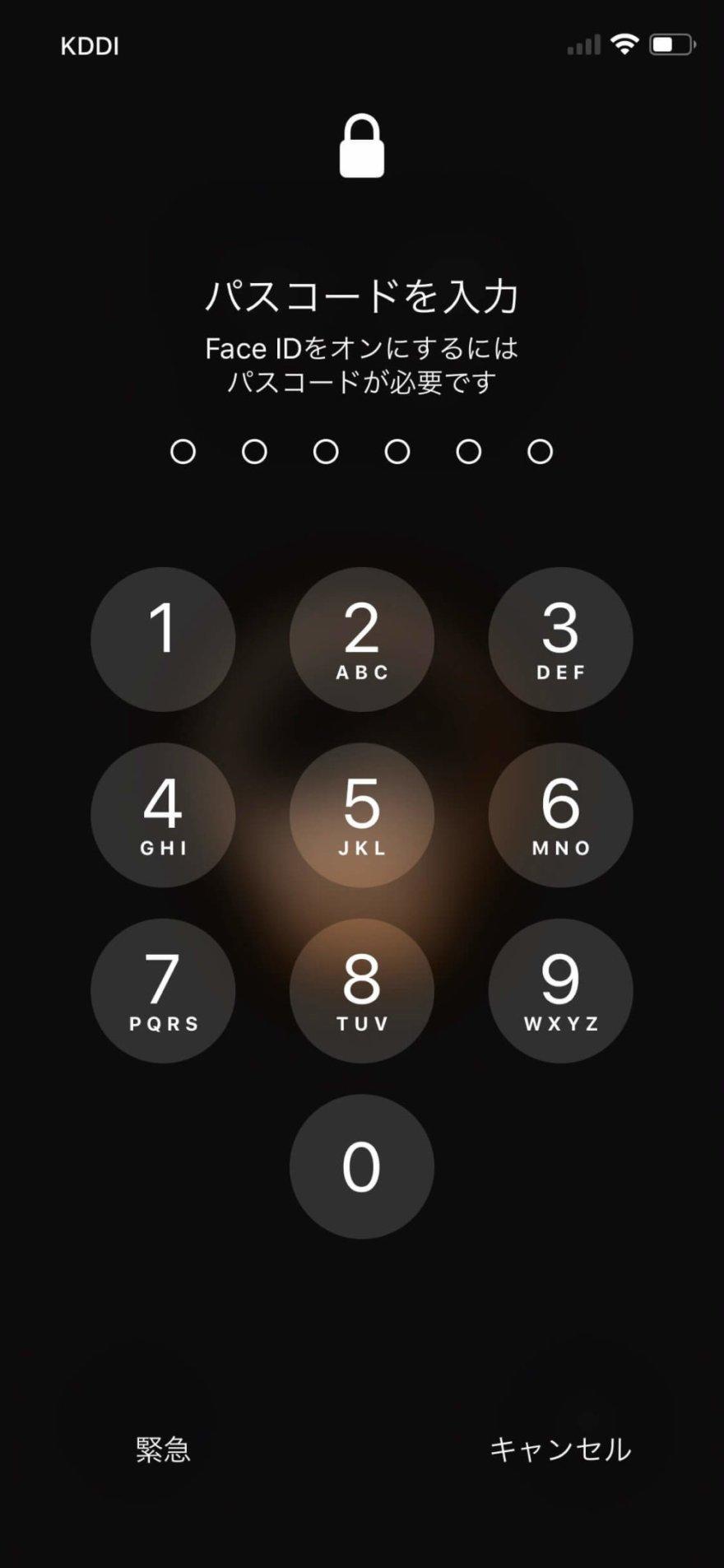 iPhone XSは顔認証のFace IDを搭載