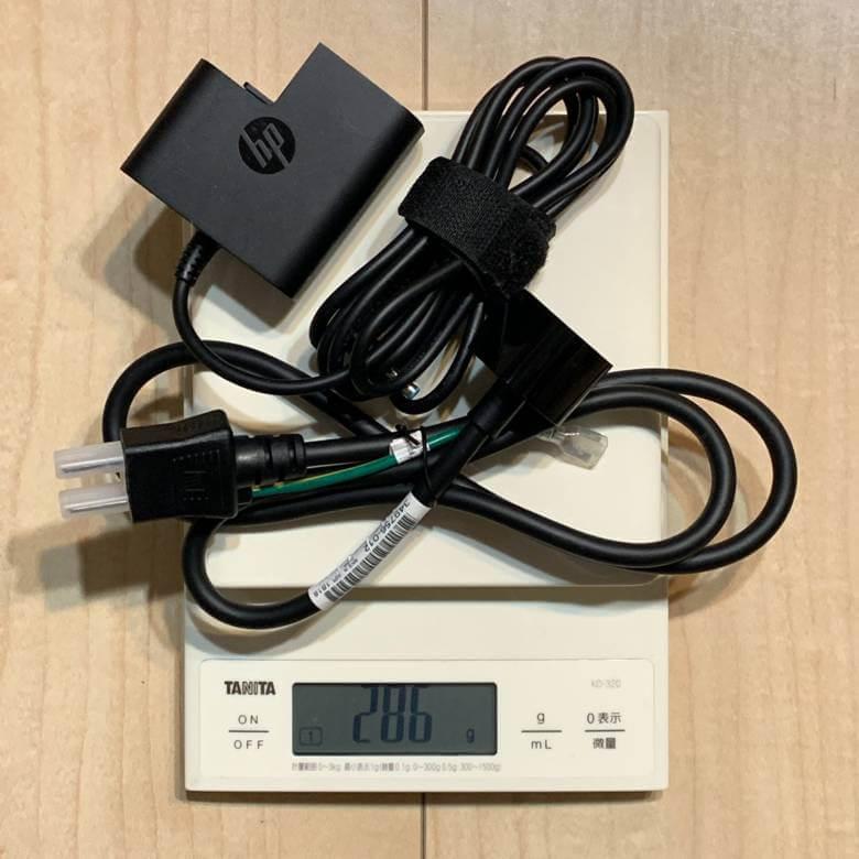 HP ENVY 13 x360のバッテリー重量