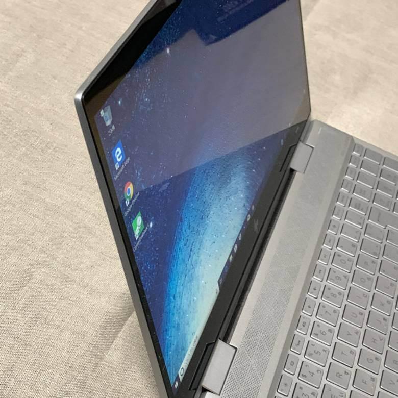 HP ENVY 15 x360(インテル)のディスプレイ視野角は広い