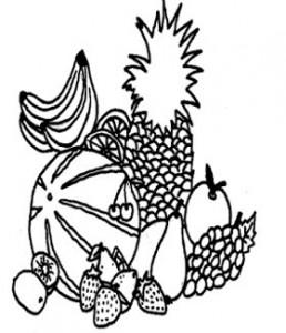 Ein Bild von Früchten für die Aktivierung von Senioren.