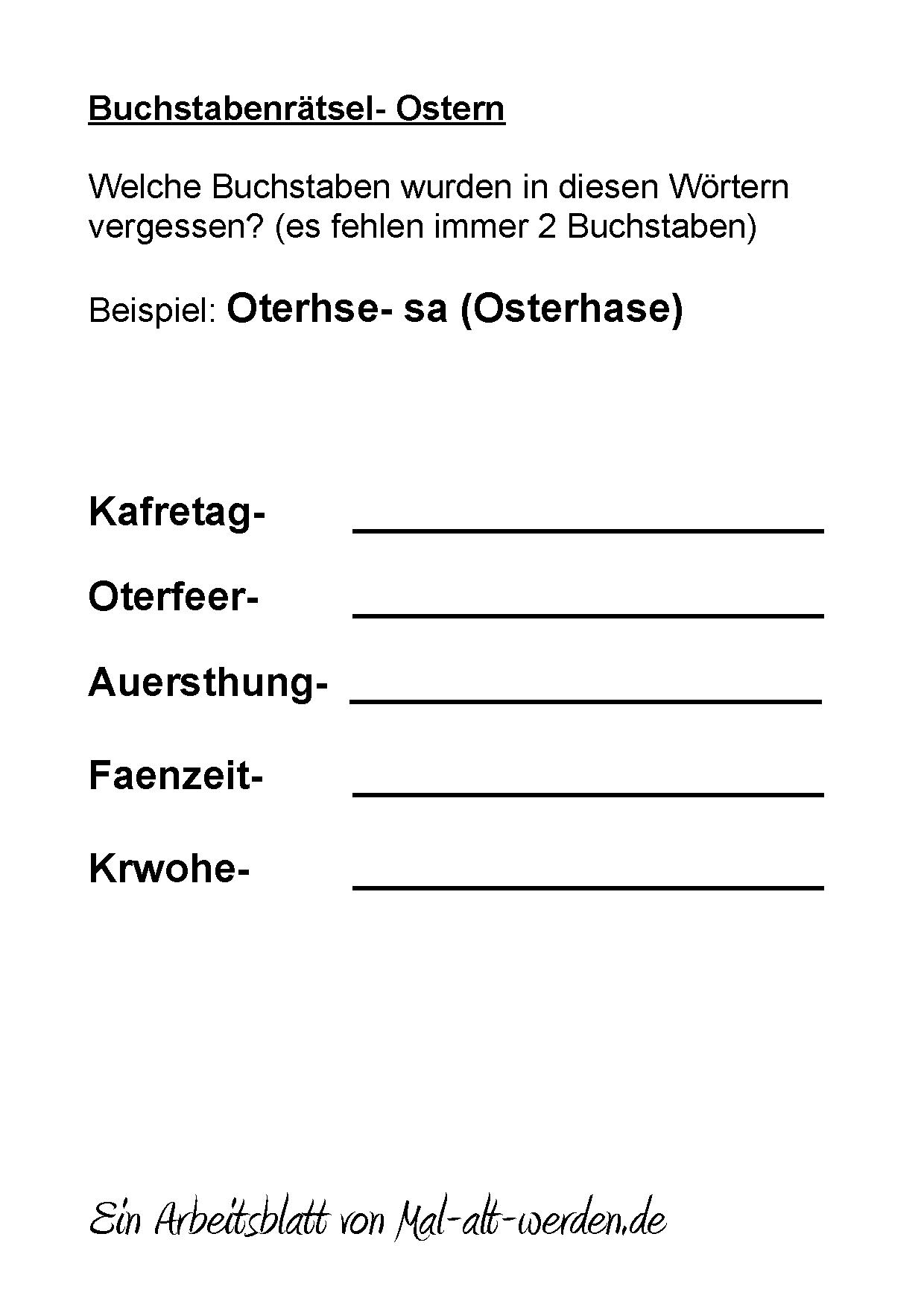 Ziemlich Ostern Themen Mathe Arbeitsblatt Bilder - Gemischte Übungen ...