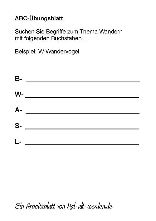 abc-arbeitsblatt-wandern