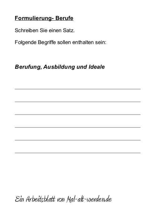 Berühmt Berufe Arbeitsblatt Galerie - Mathe Arbeitsblatt - urederra.info