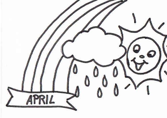 Das Sprichwort der April macht was er will als Bilderrätsel
