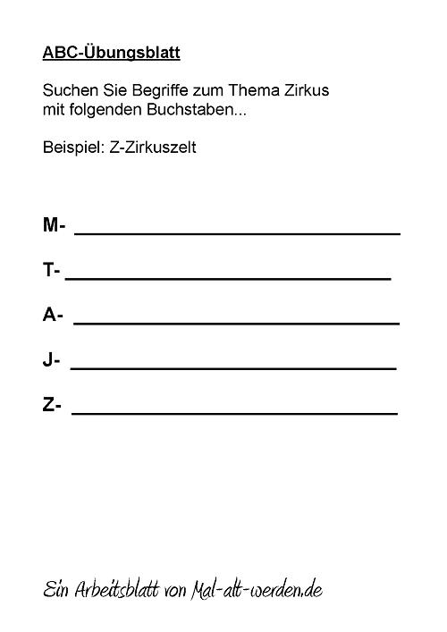 abc-arbeitsblatt-zirkus