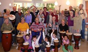Drum Circle Villa Albrecht Gruppenfoto