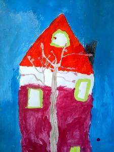 Das Haus gegenüber, Lisa (Acryl, 2016)