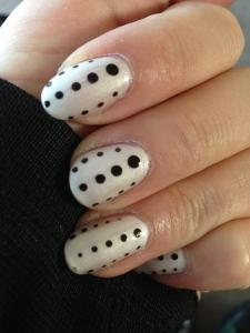 White dots