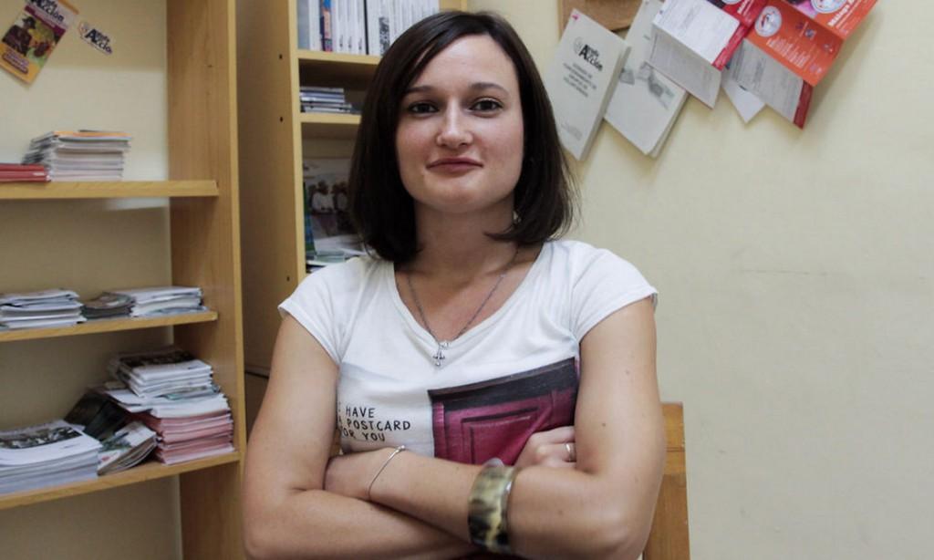Hanna Miadzvedzveda, voluntaria del Área de Educación