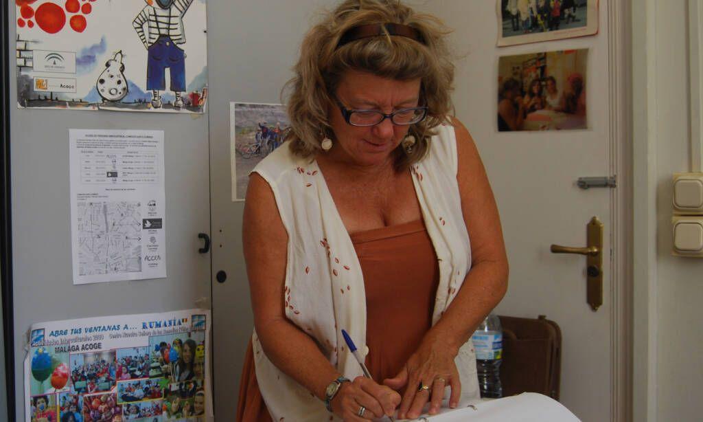 Judith Browder, voluntaria del Área Social