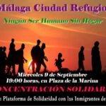 #MálagaCiudadRefugio· Ningún ser humano sin hogar