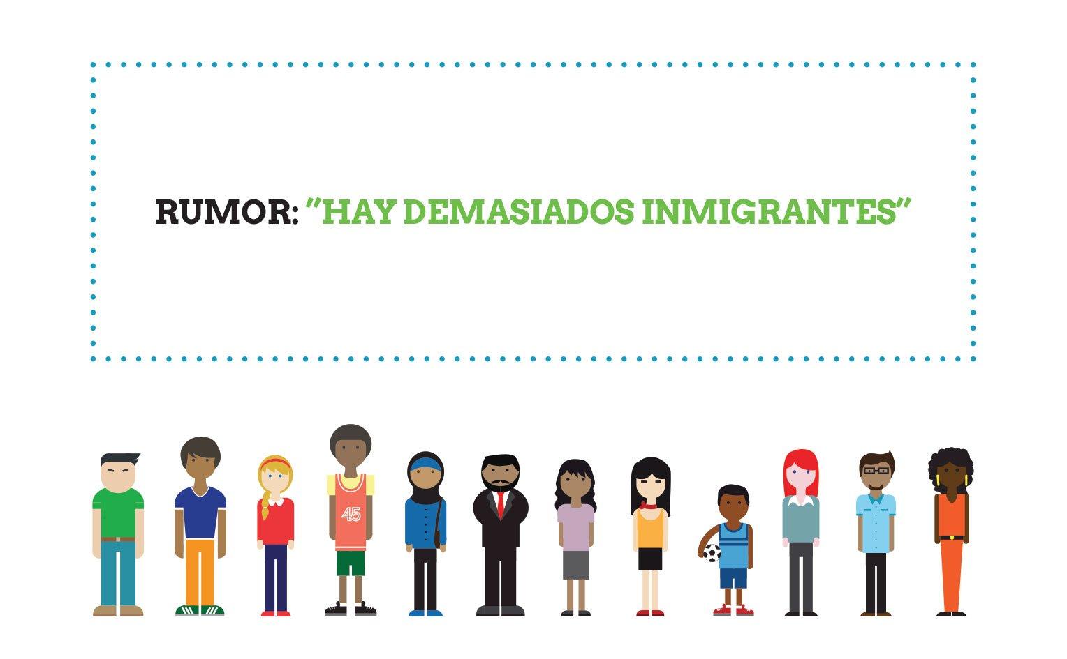 Rumor: «hay muchas personas inmigrantes en Málaga»