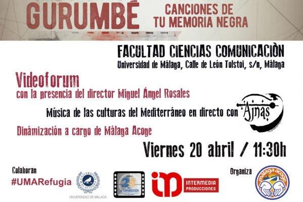 """Málaga Acoge presenta el videoforum """"Gurumbé. Canciones de tu Memoria Negra"""""""