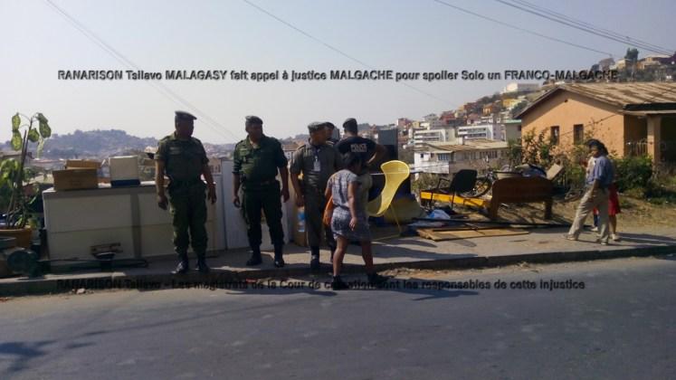 RANARISON Tsilavo MALAGASY fait appel à justice MALGACHE pour spolier Solo un FRANCO-MALGACHE