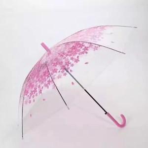 Flowered Clear Fancy Umbrella