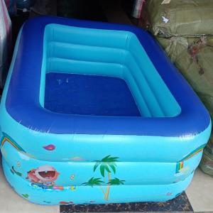Inflatable swimming pool with electric pump 145x110x55cm Lxwxh 480 litres
