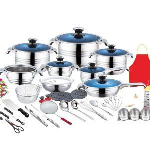 50pcs El ABRA stainless steel cookware set