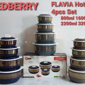 Redberry Set of 4 Hotpots