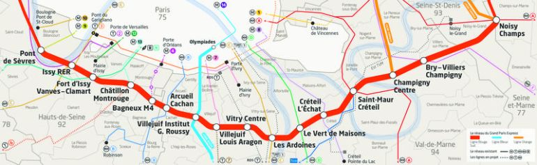 La ligne  du Grand Paris Express