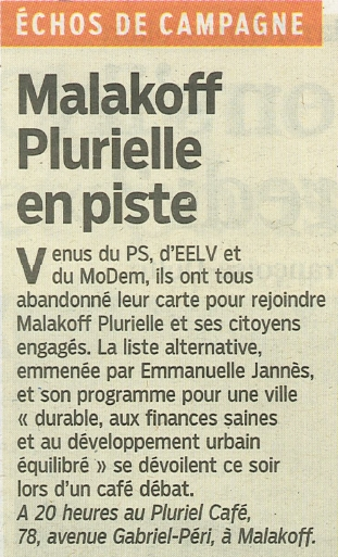 Malakoff Plurielle en piste 11 février 2014