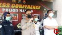Foto : Kapolres Malang, AKBP Hendri Umar saat gelar press conference