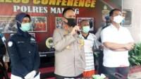 Foto : Press Conference Kapolres Malang dan tersangka pemalakan