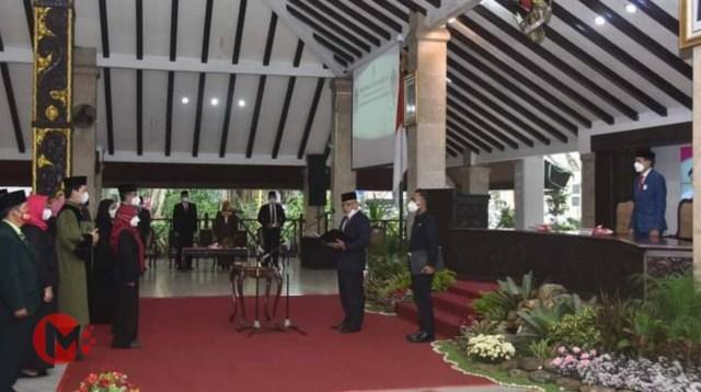 Foto : Bupati Malang, HM Sanusi lantik pejabat fungsional