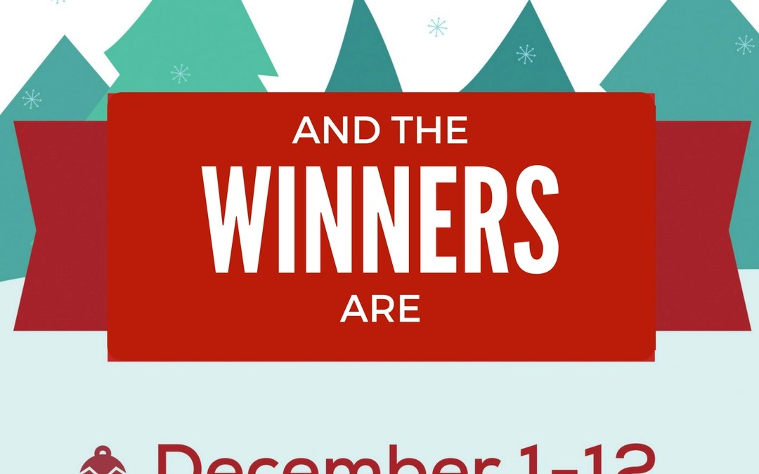 Winners of MalaRae 12 Days of Giveaways