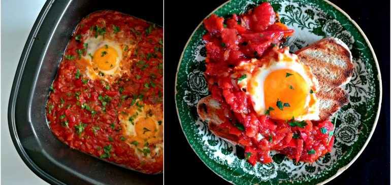 SHAKSHUKA-povrćni doručak sa jajima