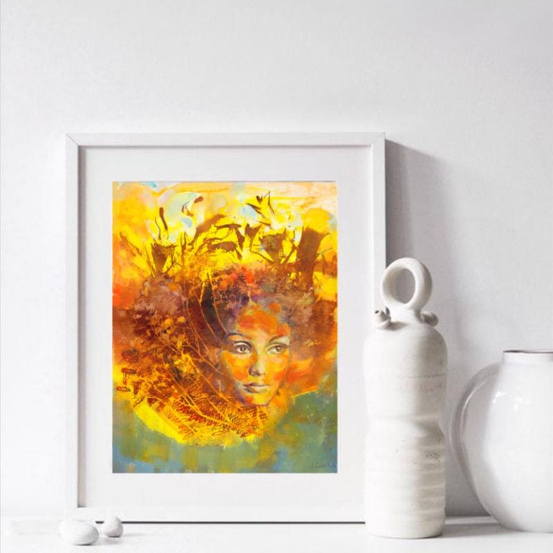 Słoneczna dziewczyna obraz