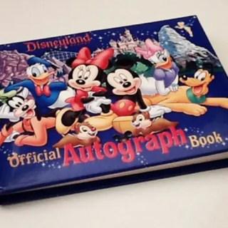 Livro de autógrafos Disney