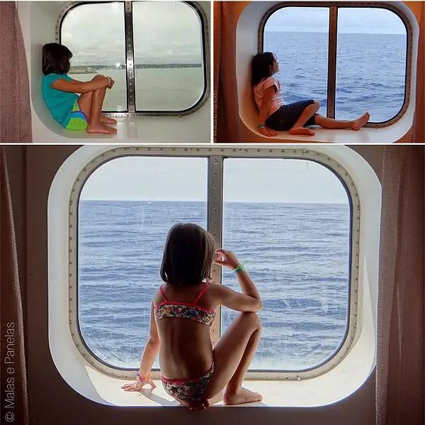 Costa Favolosa janela cabine externa