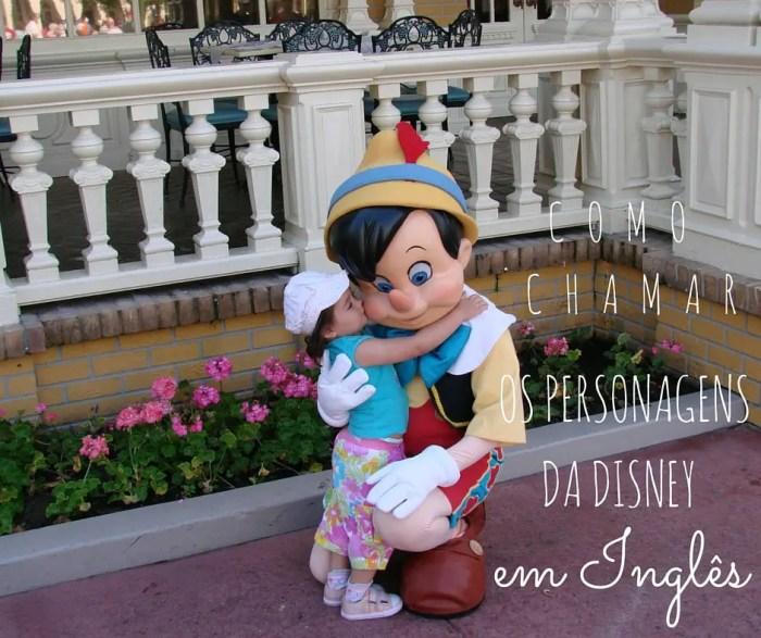 Personagens Disney em Inglês