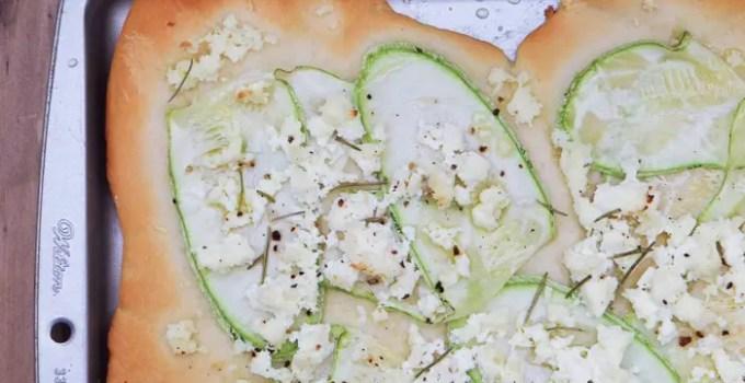 Receita: Pizza de Abobrinha e Ricota