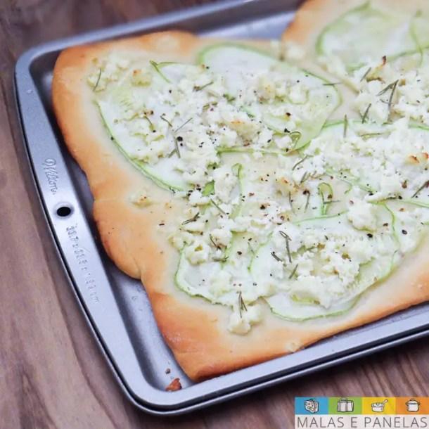 Pizza de Abobrinha e Ricota