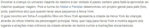 Nina em NY - Pelo Mundo