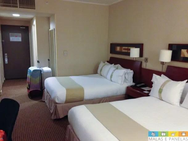 Nosso quarto no Holiday Inn