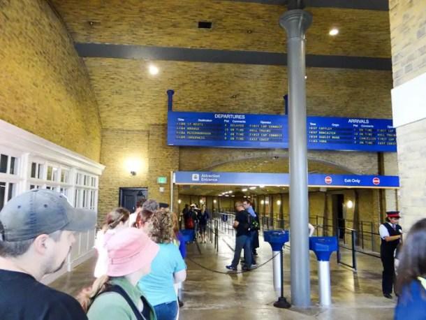 Entrada para o Hogwarts Express