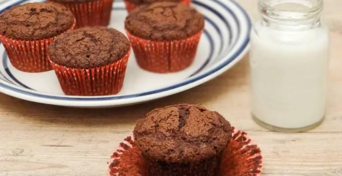 Receita: Muffin de Chocolate com gostinho de Brownie