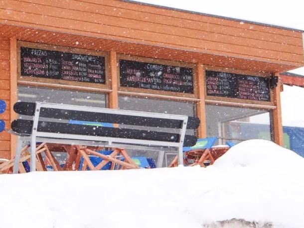 preços comida valle nevado