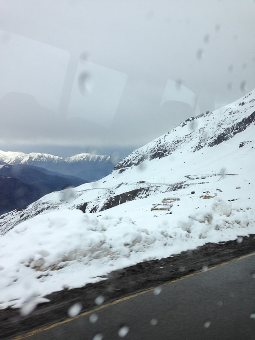 na estrada para o Valle Nevado