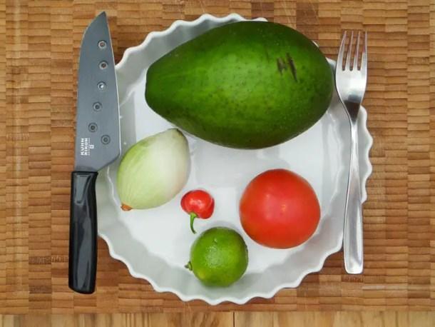 Os ingredientes e utensílios