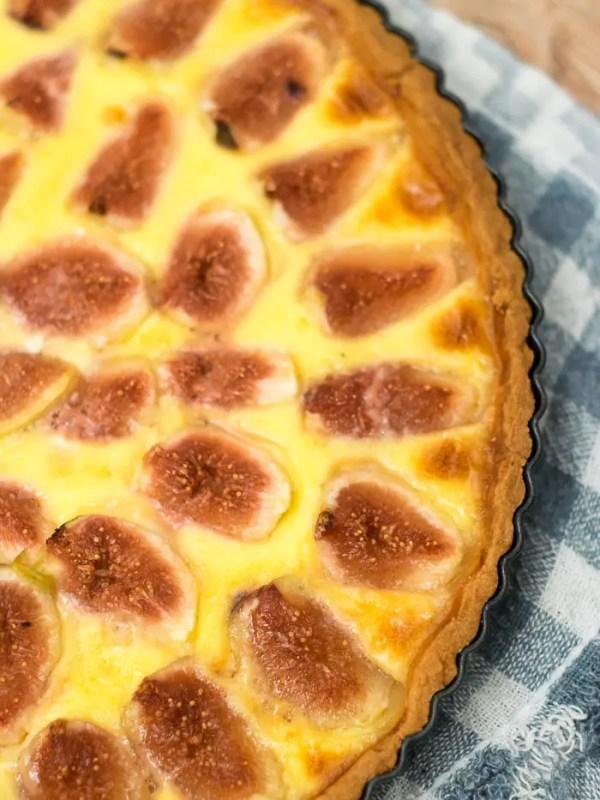 Torta de figos frescos