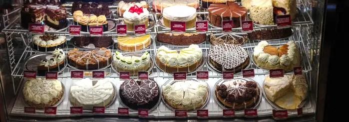 Uma infinidade de cheesecakes